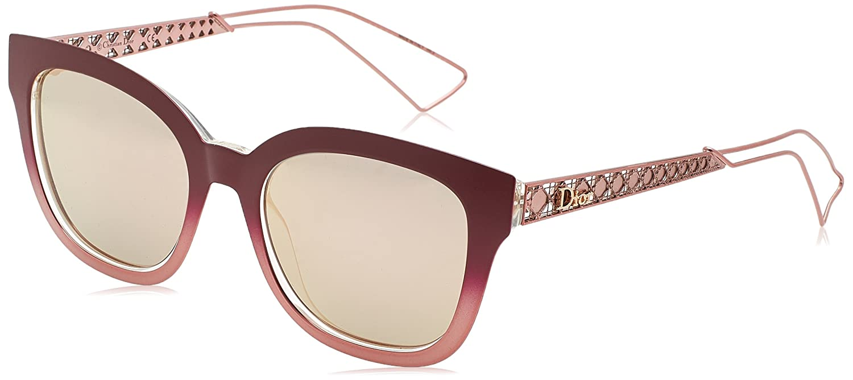 Dior DIORAMA1 0J 2IF Gafas de sol, Rojo (Mtburg Coral Rose GD Grey Speckled), 52 para Mujer