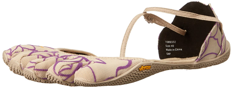 Vibram Women's VI-S Fitness and Yoga Shoe B0114979CW 38 EU/6.5-7 M US|Beige/Royal Purple