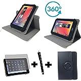 3er Starter Set für Lenovo Tab10 TB-X103F Tablet PC Tasche + Stylus Pen + Schutzfolie - 10.1 Zoll Schwarz 360? 3in1