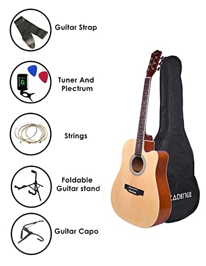 fd3d0c0ad734f Kadence Frontier Series Acoustic Guitar With Equalizer  Amazon.in ...