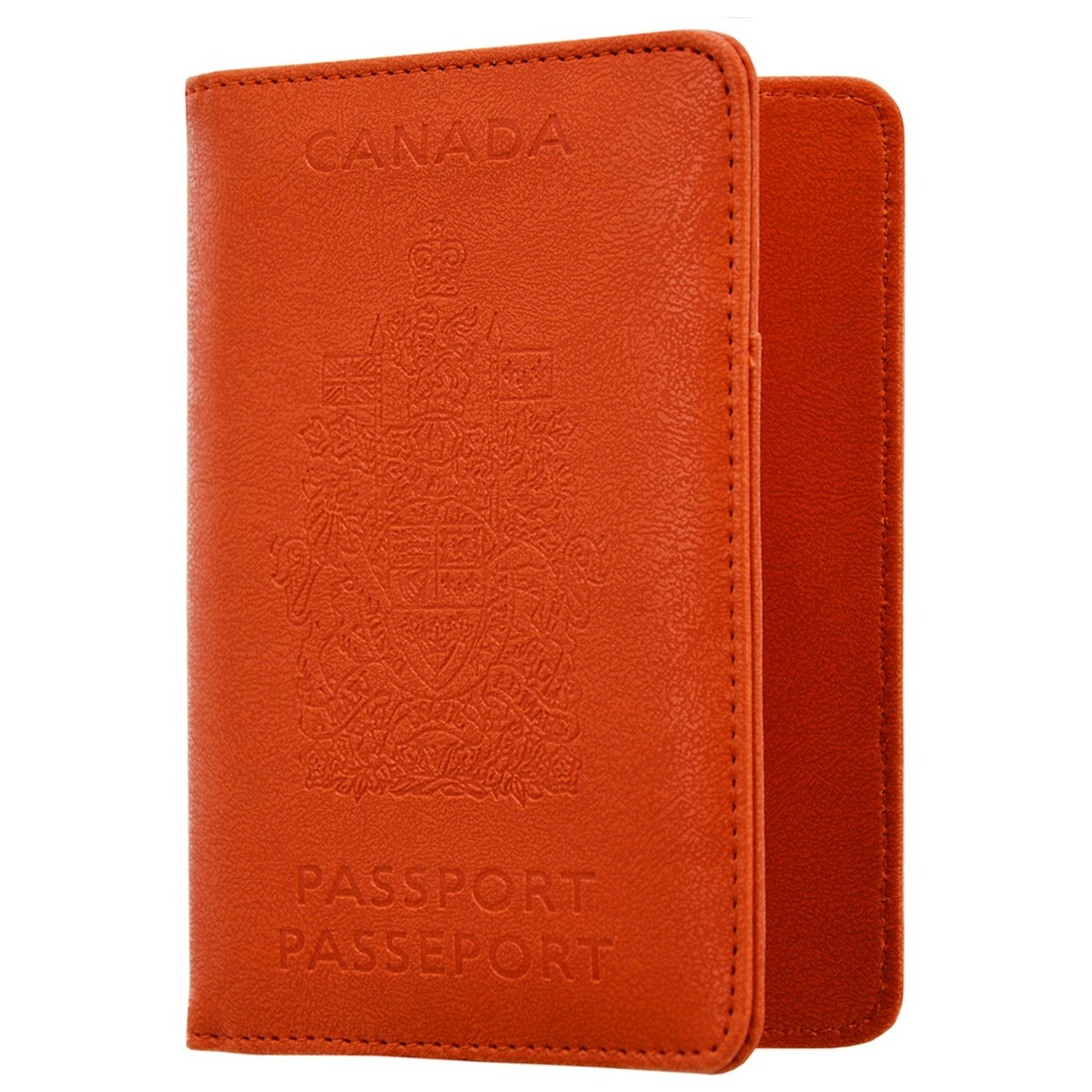 KINGMAS RFID Blocking Passport Wallet Cover - CA Travel Passport Holder Leather Case