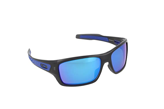 d064bf5a36c Oakley Mens Turbine Active Sunglasses One Size Black Ink Sapphire Iridium