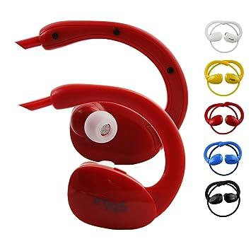 Emartbuy GBlue Rojo S80 Estéreo Inalámbrico Bluetooth Deportes Auriculares en Soportes Manos Libres con Micrófono for Xiaomi Redmi Note 4X Smartphone: ...