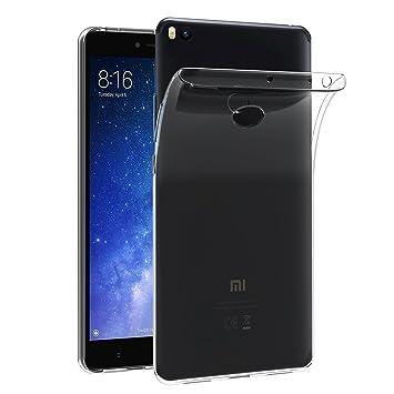 iVoler Funda Carcasa Gel Transparente para Xiaomi Mi MAX 2, Ultra Fina 0,33mm, Silicona TPU de Alta Resistencia y Flexibilidad