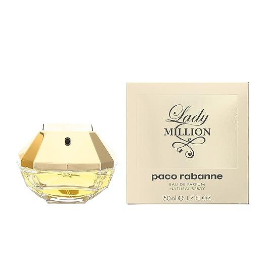 b6e4e3401bf Paco Rabanne Lady Million Eau de Parfum Spray for Women, 50 ml:  Amazon.co.uk: Beauty