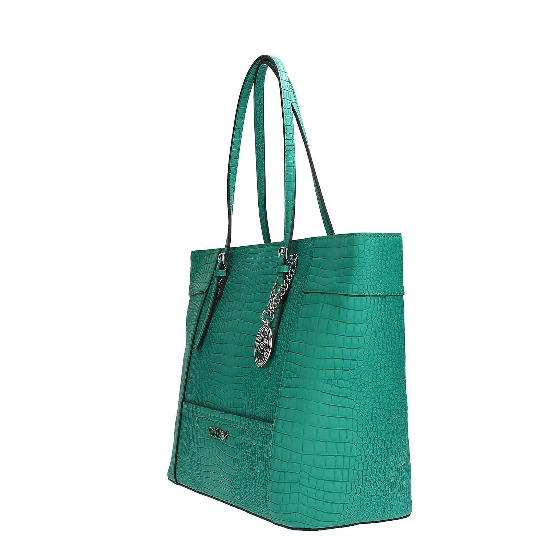 a8a1163b140f Guess Delaney Medium Classic Tote KC453523 Women s Handbag 43X29X14 CM  Jade  Amazon.co.uk  Shoes   Bags