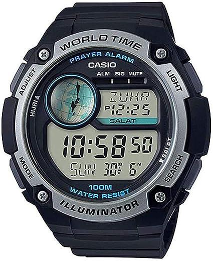 Casio Reloj Digital para Hombre de Cuarzo con Correa en Plástico CPA-100-1AVEF: Amazon.es: Relojes