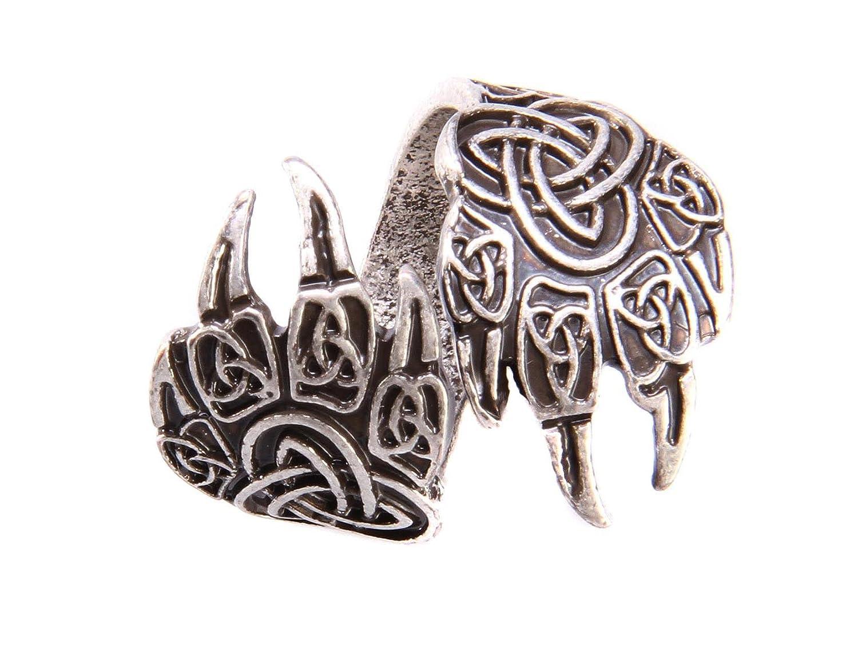 Anello Viking artigli di orso fatta mano–Anello regolabile Drakko BagueDrakko3