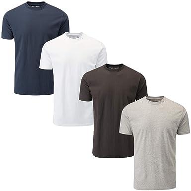 e6dc3ebd8 Charles Wilson 4 Pack Plain Crew Neck T-Shirt: Amazon.co.uk: Clothing