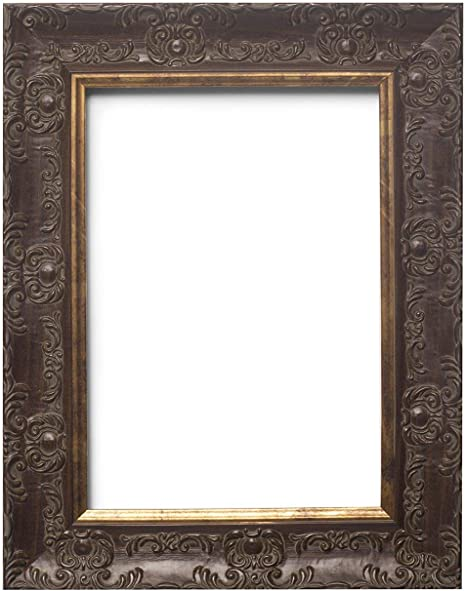 Shabby Chic Picture frame,photo frame poster frame VINTAGE Walnut