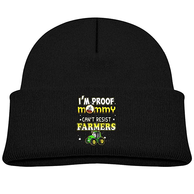 Im Proof My Mom Cant Resist Farmers Beanie Cap Baby Girl Boy