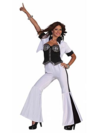 70s disco fever diva adult halloween costume size 2 6 x smallsmall