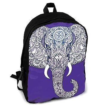 Giinly Tattoo Elephant - Mochila de Viaje para Adultos, diseño de Elefante con Patrones: Amazon.es: Hogar