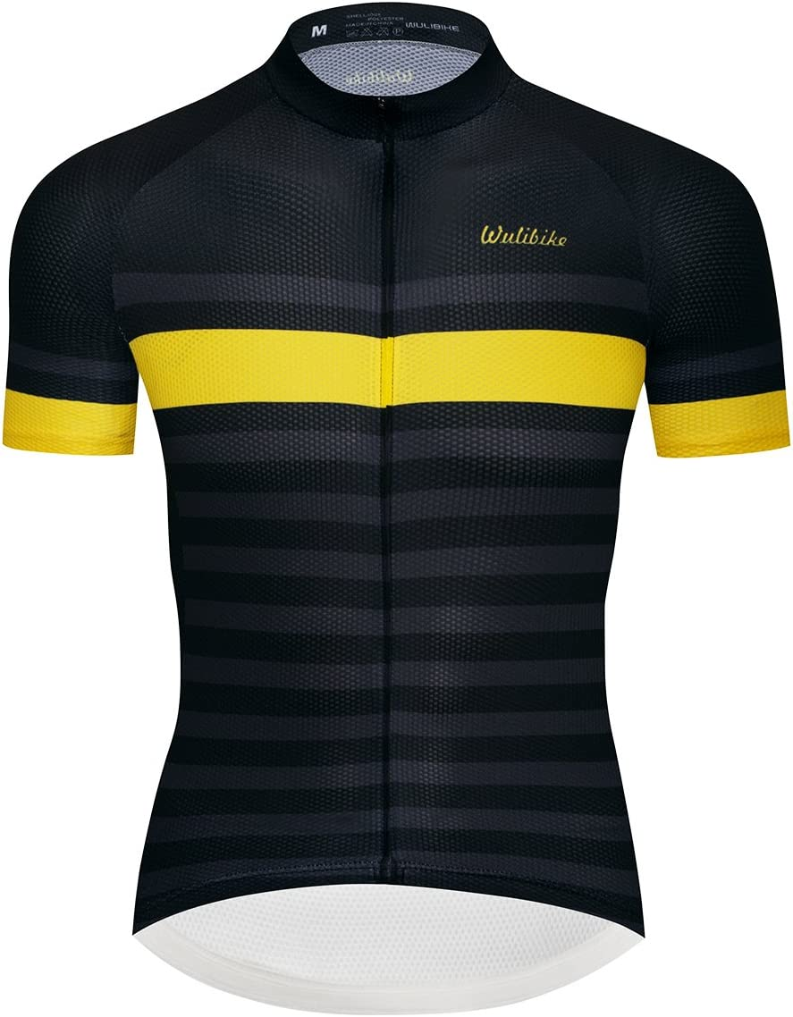 Logas Adults Cycling Jersey Men Blue Stripes Road Bicycle Clothing