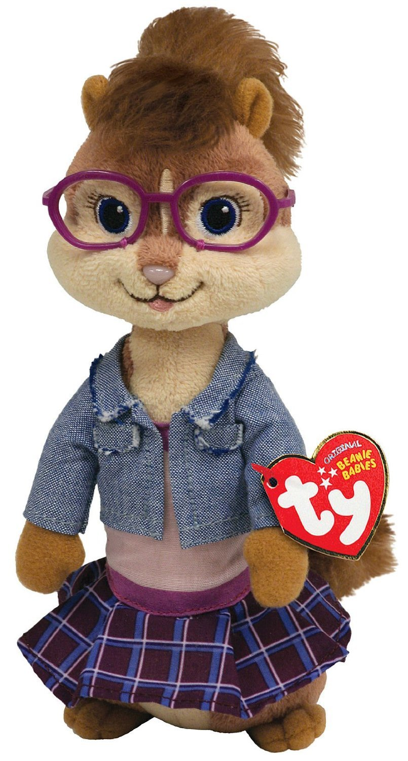 TY Beanie Baby Jeanette - Alvin  and  the Chipmunks by Ty