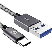 Syncwire USB C Kabel auf USB 3.0 Ladekabel, geeignet für Typ C Geräte, Samsung Galaxy S9/S8, Huawei, HTC, Nexus, Lumia, OnePlus, Nokia Tablet und viele mehr - 1m Nylon Grau