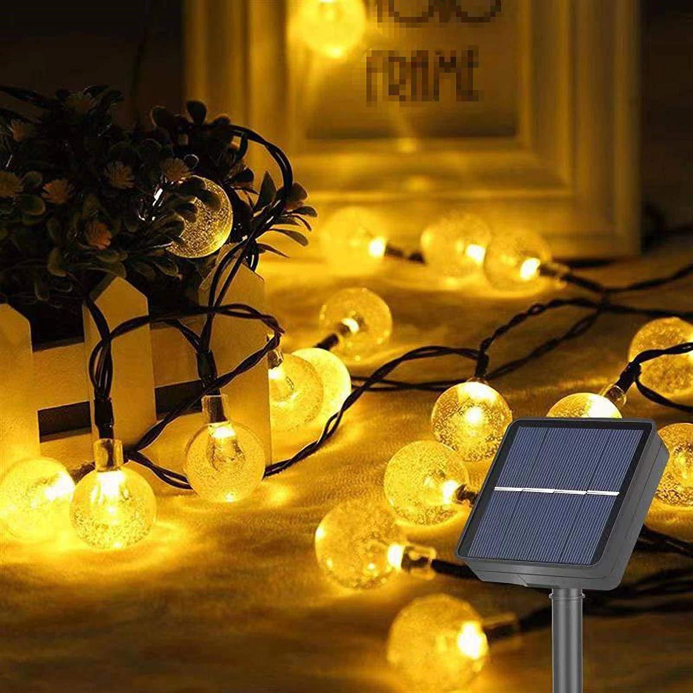 Garden Solar Lights, 50 LED Outdoor Solar String Lights Garden Crystal Ball Decorative Lights Waterproof Indoor Outdoor Fairy Lights for Garden, Patio, Yard, Christmas