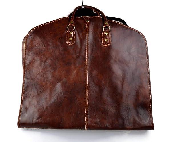 Bolsa de ropa de cuero bolsa de viaje bolsa de ropa de mano ...