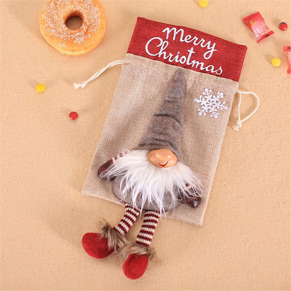 chenqiu - Bolsa de Regalo con cordón para Navidad, Bolsa de ...
