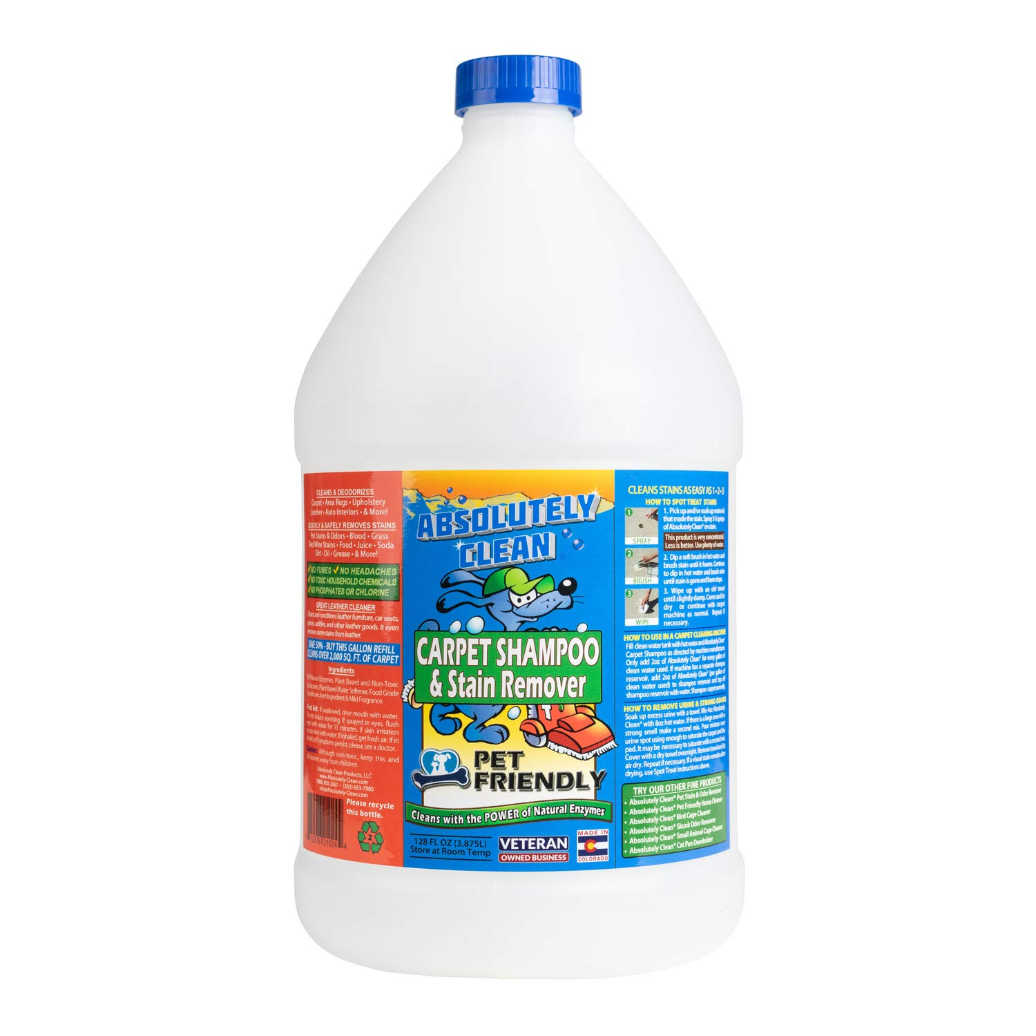 Pet-Friendly Stain and Odor Remover Carpet Cleaner by Absolutely Clean