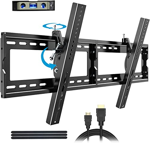 BLUE STONE TV Wall Mount Bracket Tilt Low Profile for Most 40-90 inch with Max VESA 800x400mm Holds up to 165lbs and Fits 16 18 24 Studs,TV Mounting for Plasma Flat Screen, LED, LCD,4K Curved TVs