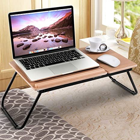 buy online 6d668 47a49 Safstar Portable Laptop Lap Desk Folding Breakfast Serving Bed Tray Wooden  Work Table Sofa Couch Lap Top Stand Desk (1 Pack)