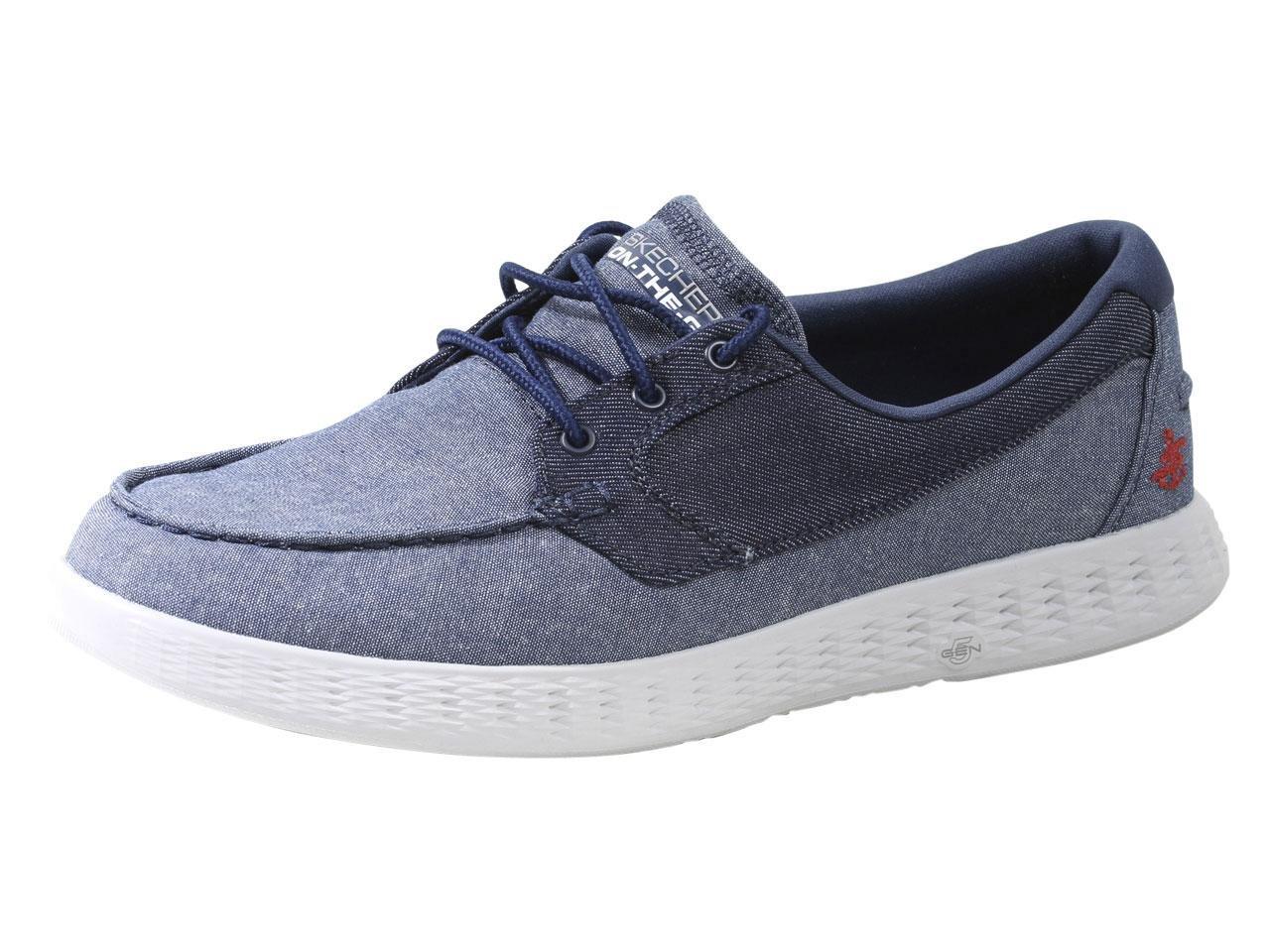 Skechers Go Glide Denim 44 EU Jeans Zapatos de moda en línea Obtenga el mejor descuento de venta caliente-Descuento más grande