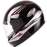 Aeroplus Smart (ISI) Full Face Helmet (580mm,M) (Red)