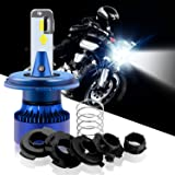 WinPower 1 X H4 Motorcycle LED Headlight 9003 HS1 P43T BA20D H6 S2 High Low Beam 5200lm 6000K Cool White, 2 Yrs Warranty