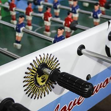 8pcs futbolín fútbol Mesa pequeña Mango Agarre Mango de Goma Grip Parte Replacment para 1,2 m Mesa - Negro: Amazon.es: Deportes y aire libre
