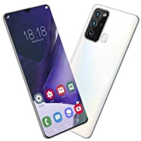fosa1 6.5IN Face ID Smartphone, Dual SIM Dual Standby Phone, Water Drop Screen Phone, MTK6889 Phone Without Contract, for Android 10.0(Weiß)