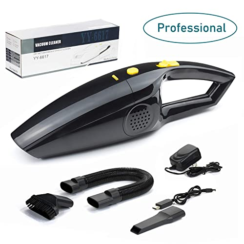 Rechargeable Pet Hair Vacuum Cleaners for Home and Car, Portable Cordless Vacuum Cleaner Strong Suction Handheld and Household Auto Vacuum Cleaner for Deep Cleaning Wet Dry Updated