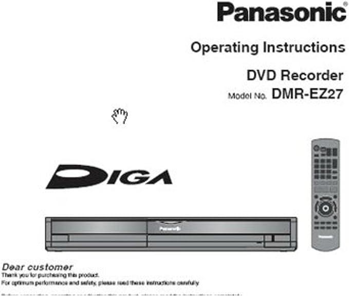 Panasonic DMR-EZ27 grabadora de DVD Manual de instrucciones – en CD: Amazon.es: Electrónica