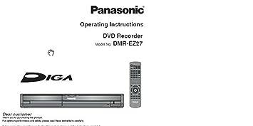 panasonic dmr ez27 dvd recorder instruction manual on amazon co rh amazon co uk Panasonic DVD Recorder with Tuner instruction manual for panasonic dvd recorder