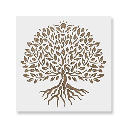 nouveau produit ebec9 7fb7e Yggdrasil Tree of Life Stencil Template - Reusable Stencil with Multiple  Sizes Available