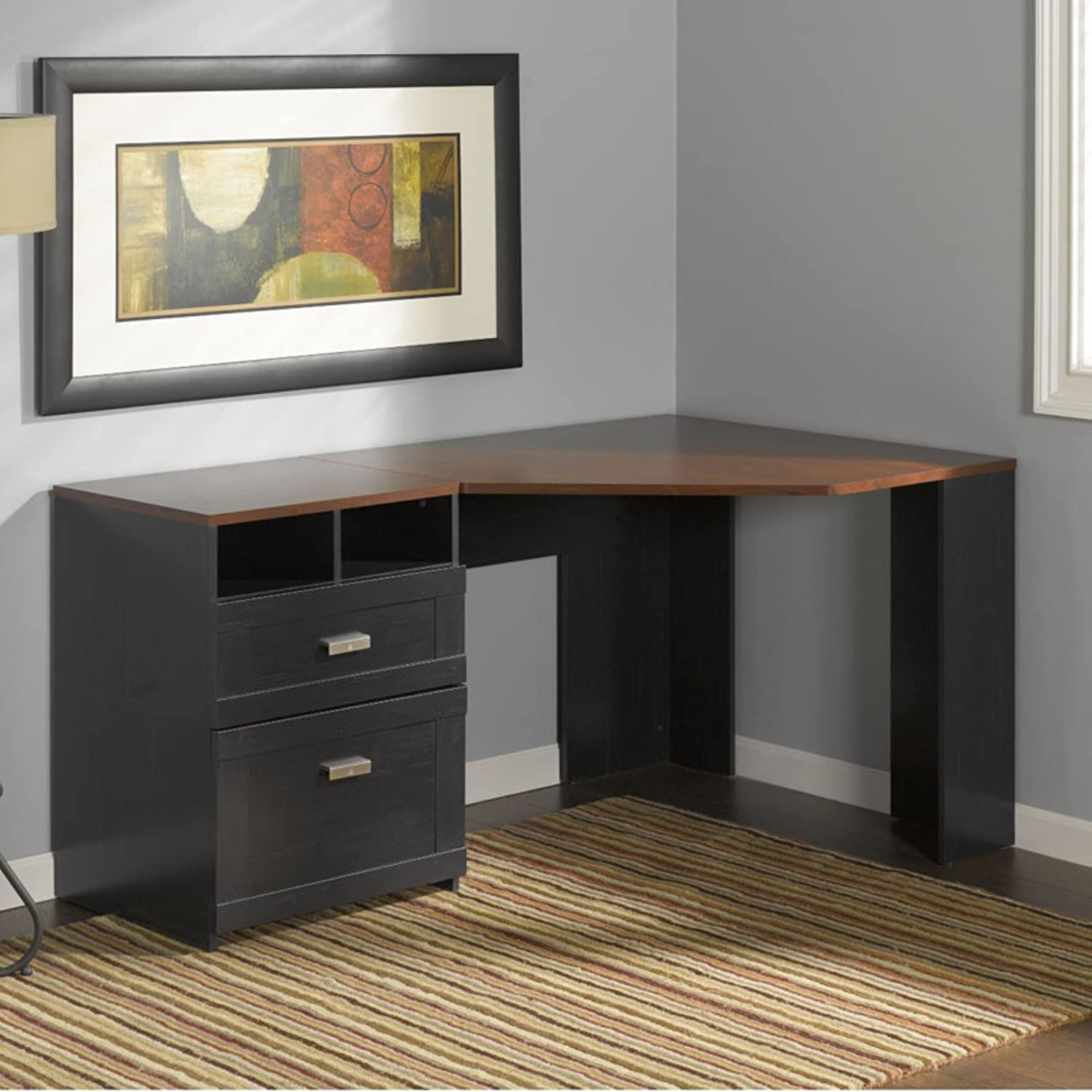 Bush Furniture Desks Small L Shaped Desk Home Painting