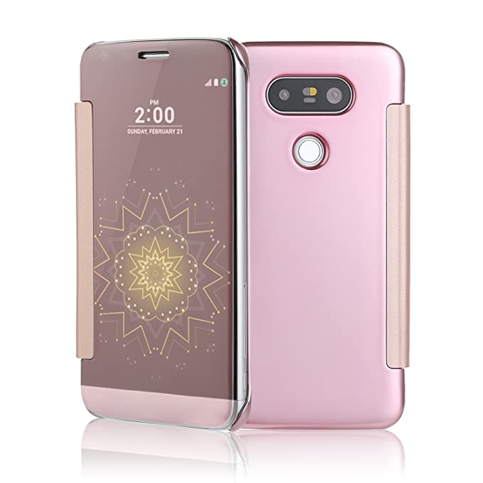 LG G5 caso, xiangtian PC Lujo Espejo Retrovisor Funda con tapa ...