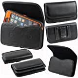 Samsung Galaxy S5, Galaxy S4, Galaxy S3, Galaxy S2 Premium PU Leather Universal Horizontal Carrying Holster Belt...