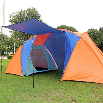Trail 4 Man Family Tunnel Tent With Awning Camping Festival