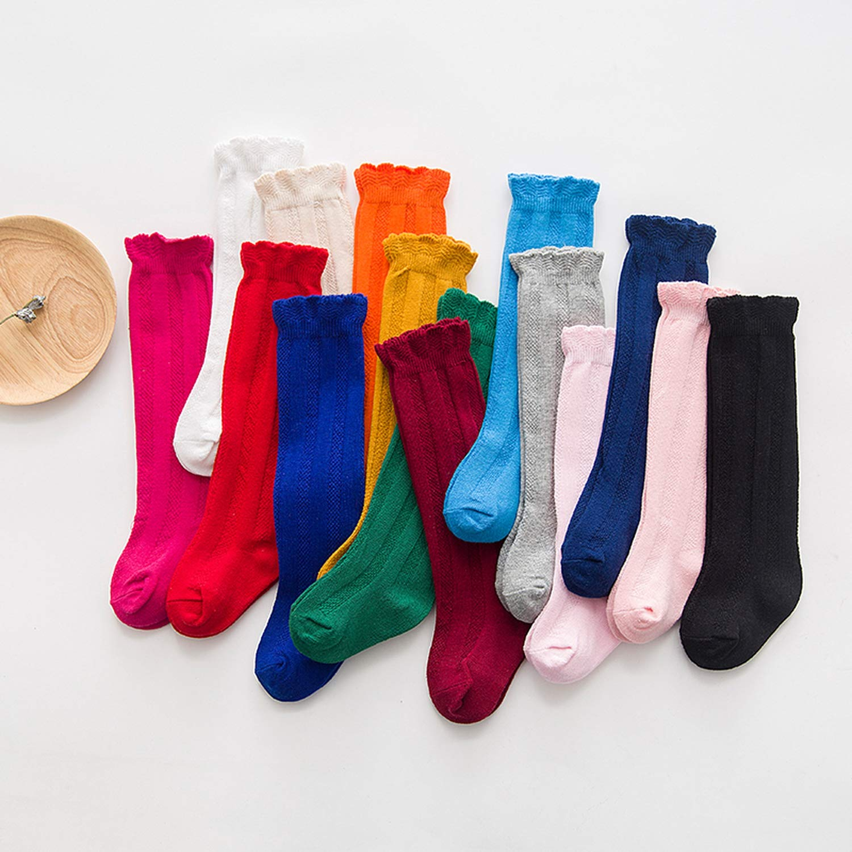Long Socks Knee High toddler Girls Boot Sock Leg Warmer Candy color Baby Solid Sock for baby Girls Sloth socks