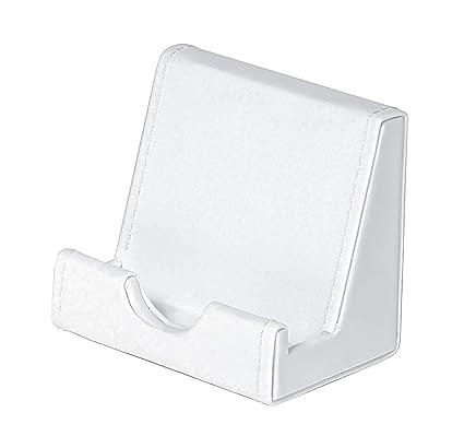 Osco – Soporte para cartas de piel sintética, color blanco