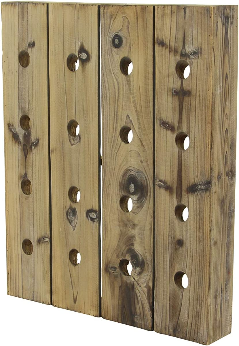 25-Inch by 21-Inch Deco 79 Woodall Wine Rack