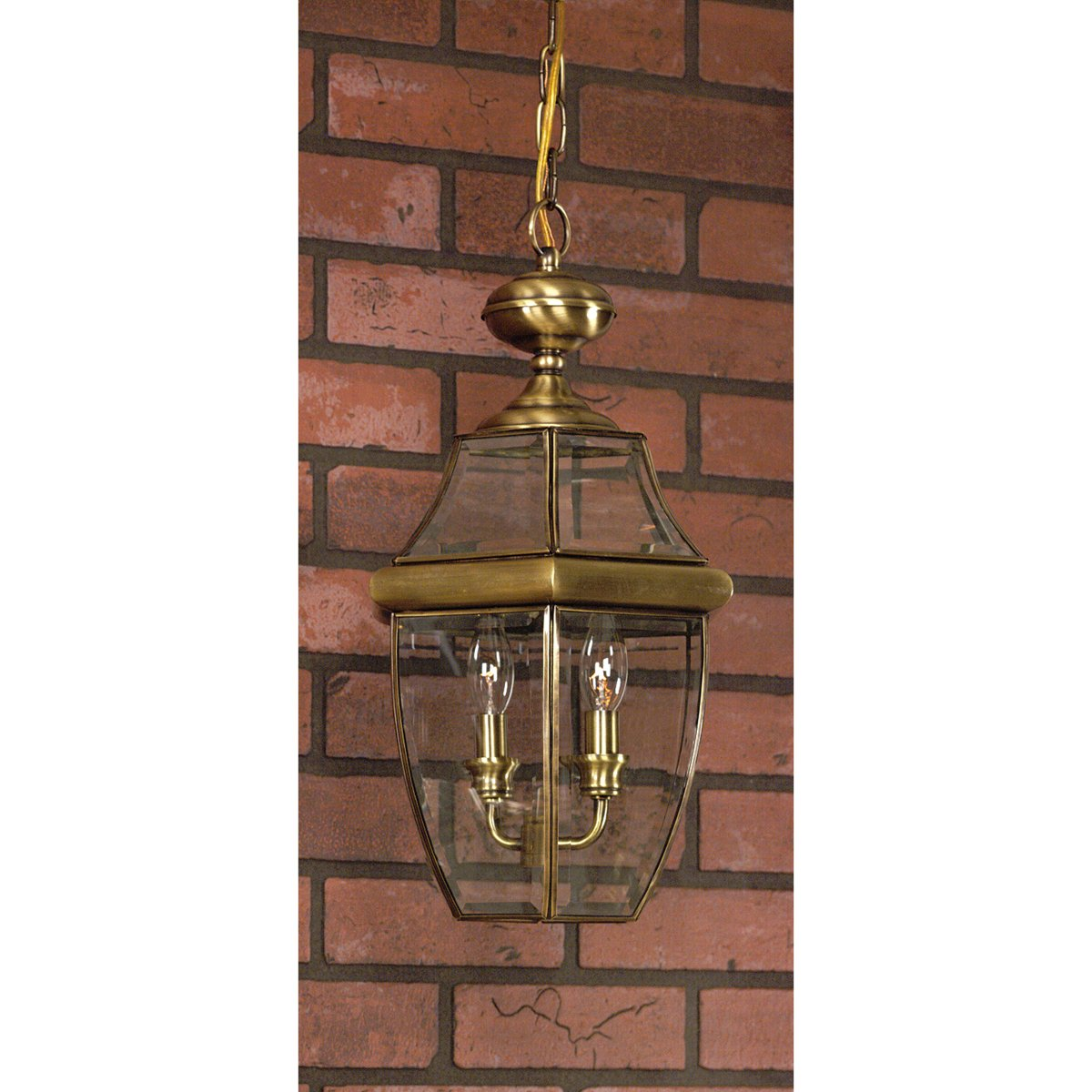 Quoizel NY1179A Newbury Outdoor Pendant Lantern Ceiling Lighting, 3-Light, 180 Watts, Antique Brass (21''H x 13''W) by Quoizel