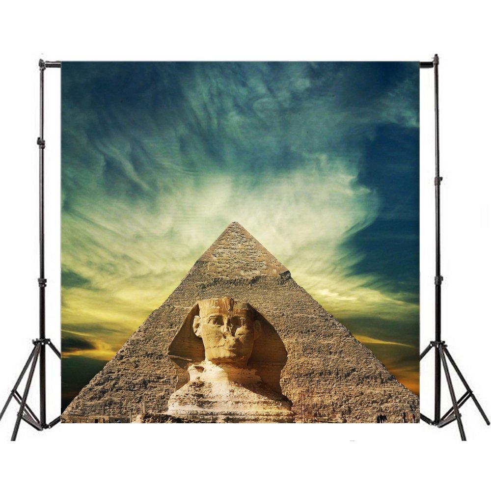 Yeele 5x5フィート エジプト ピラミッド 写真 背景 ビニール スフィンクス ワンダー 建築 古代 ファラオ 墓 ルリン 写真 背景 ポートレート 写真 ビデオ 撮影 スタジオ 小道具   B07CQZ1857