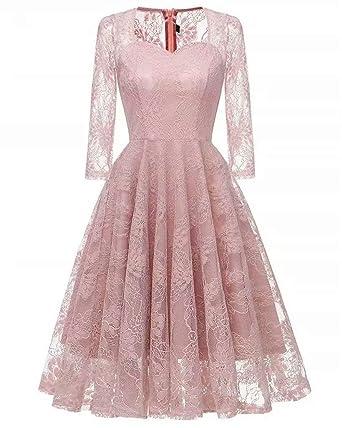 Eefzl Knee Length 34 Sleeves Bridesmaid Dress Short