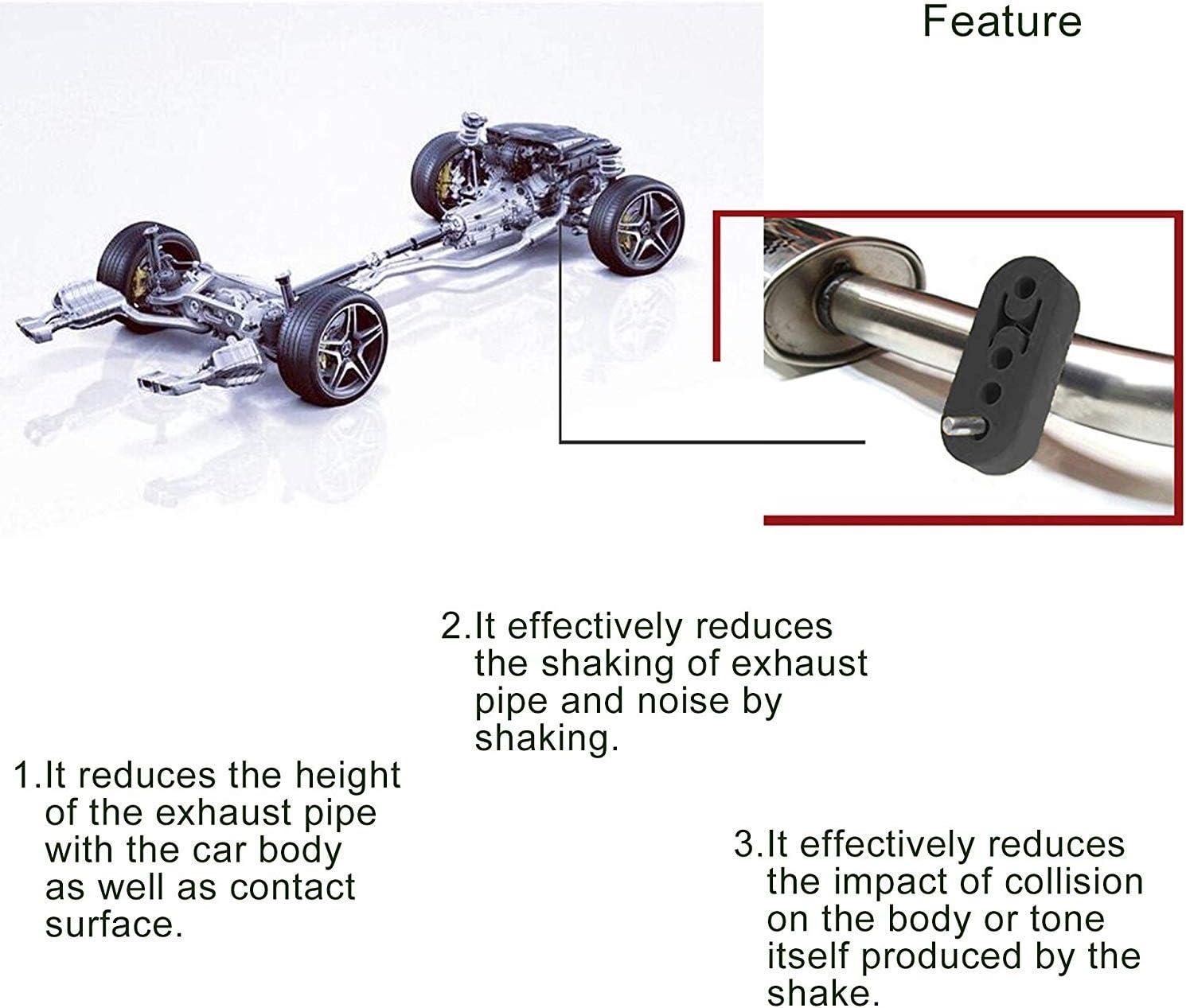 O-Ring Car Exhaust Rubber Hanger Insulator Bracket Bushing Mount Universal 4Pcs