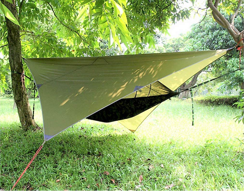 Lightweight Portable Single Sleep Set for Hiking Backpacking Gastonia Camo Camping Hammock with Mosquito Net and Rainfly /& Tree Straps with Carabiners Travel Complete with Stow Away Pocket