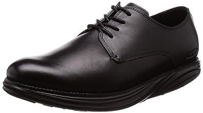 e0755f0aeaf3 MBT Shoes Men s Boston Dress Shoe  Black Nappa 6 Medium (D) Lace