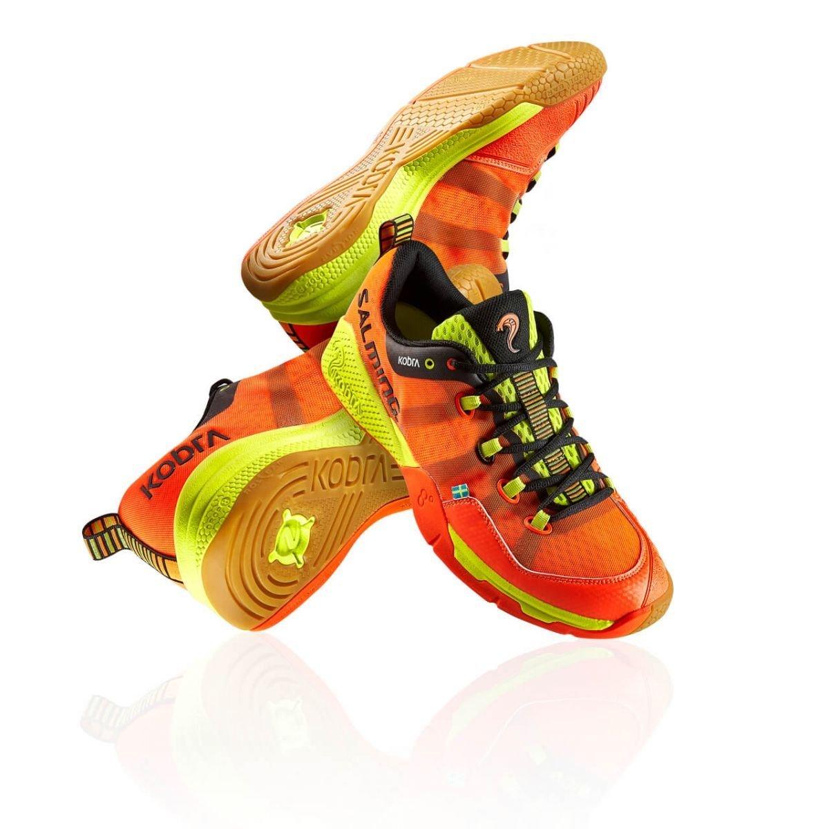 Salming Kobra Mens Squash Shoes (14, Magma Red/Black)