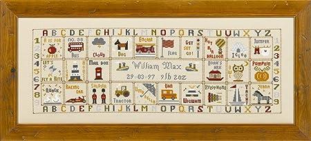 Historical Sampler Co Kit Broderie Au Point De Croix Motif Abecedaire Amazon Fr Cuisine Maison